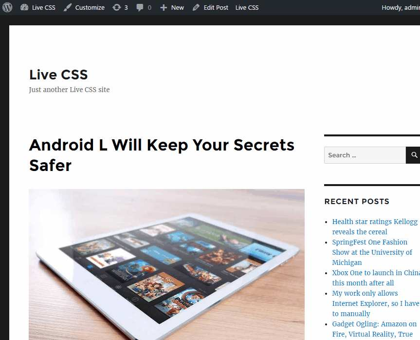 Live css Plugin WordPress, Download, Install