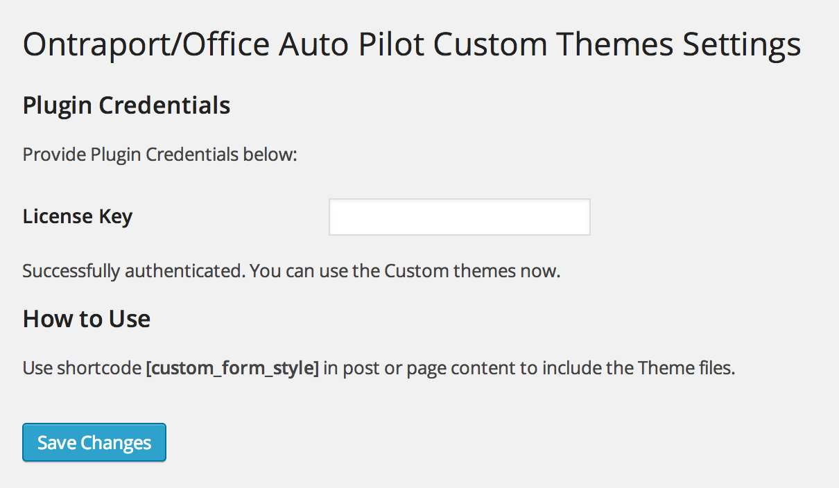 Theme My Ontraport Smartform Plugin WordPress