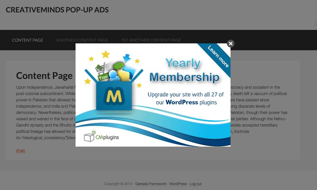 CM Pop-Up banners for WordPress Plugin WordPress, Download, Install