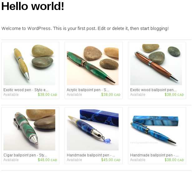 Etsy Shop Plugin WordPress