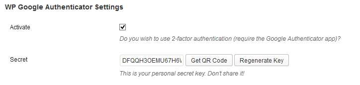 Google Authenticator for WordPress Plugin WordPress