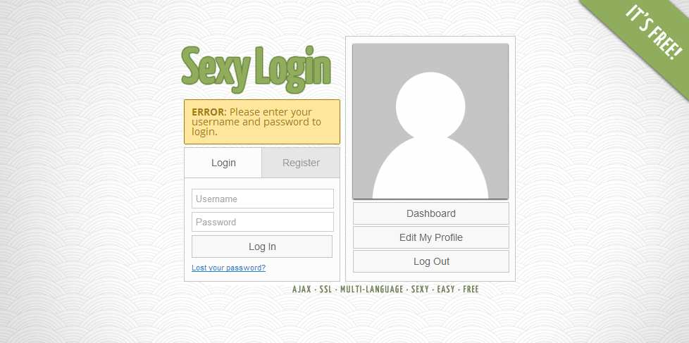 Sexy Login Plugin WordPress, Download, Install
