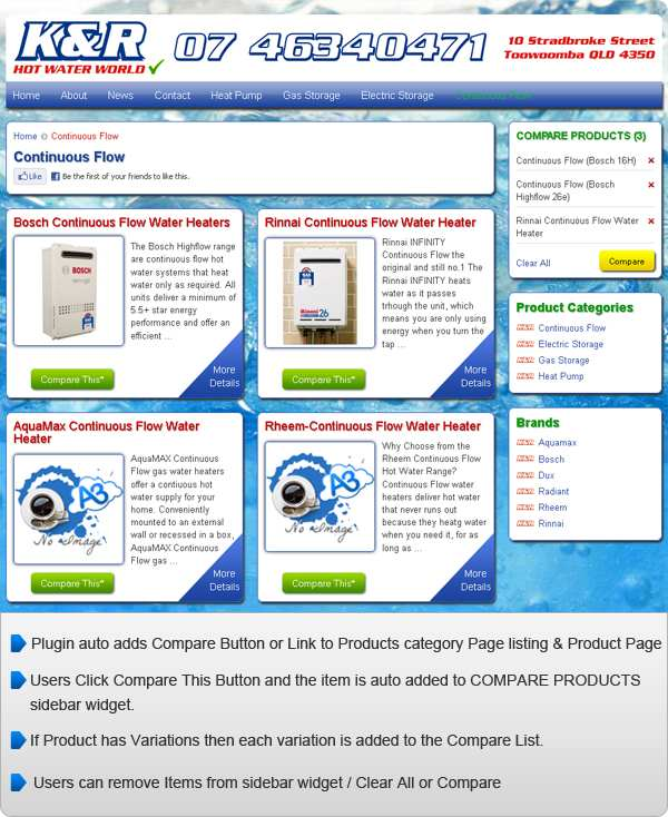 WP e-Commerce Compare Products Plugin WordPress, Download, Install