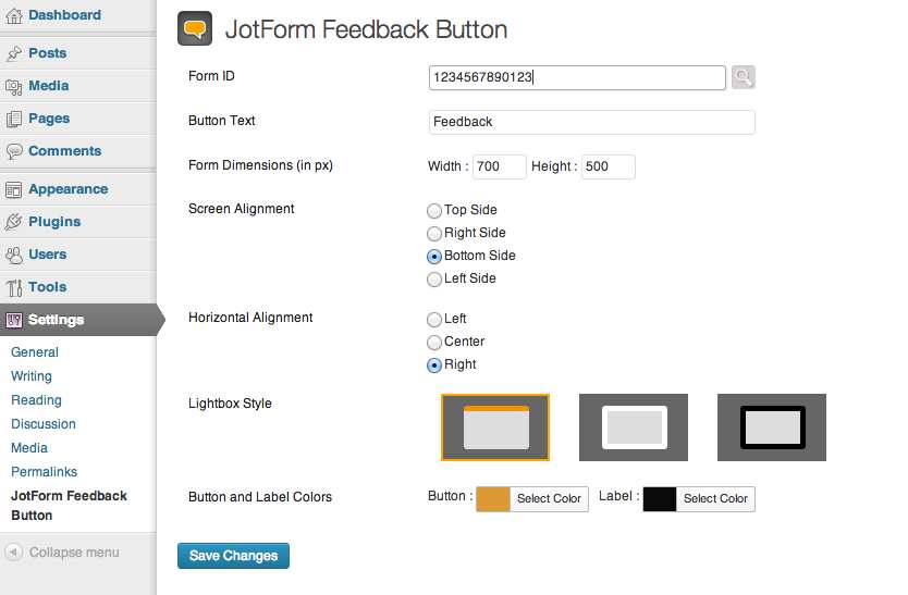JotForm Feedback Button Plugin WordPress, Download, Install