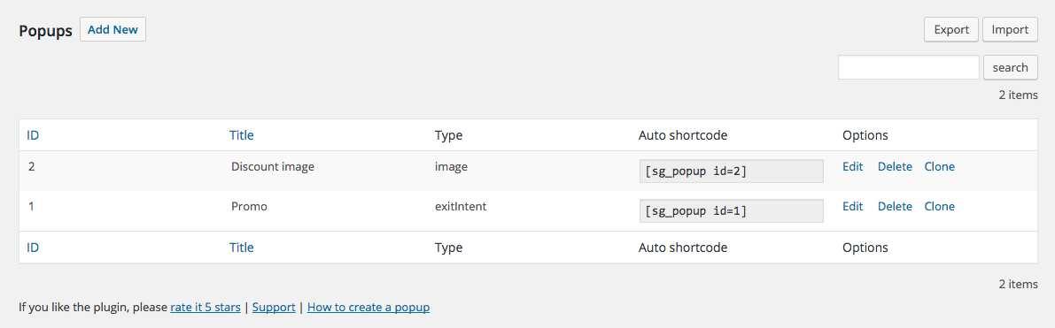 Popup Plugin WordPress