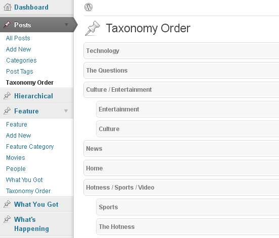 Category Order and Taxonomy Terms Order Plugin WordPress, Download, Install