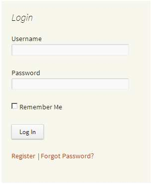 Sidebar Login Widget Plugin WordPress, Download, Install