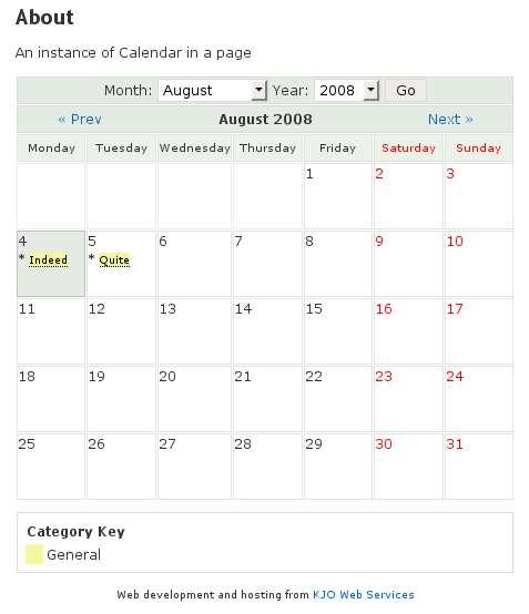 Calendar Plugin WordPress