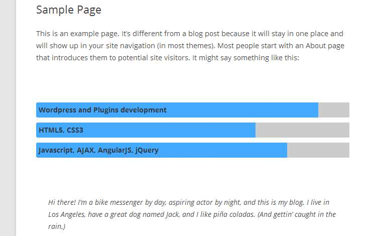 Responsive Progress Bar Plugin WordPress, Download, Install