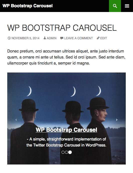 WP Bootstrap Carousel Plugin WordPress, Download, Install