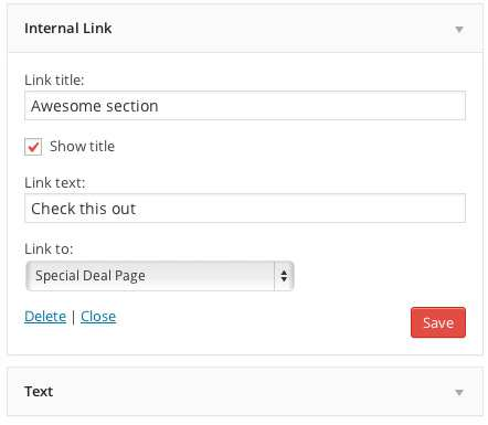 Internal Link Widget Plugin WordPress