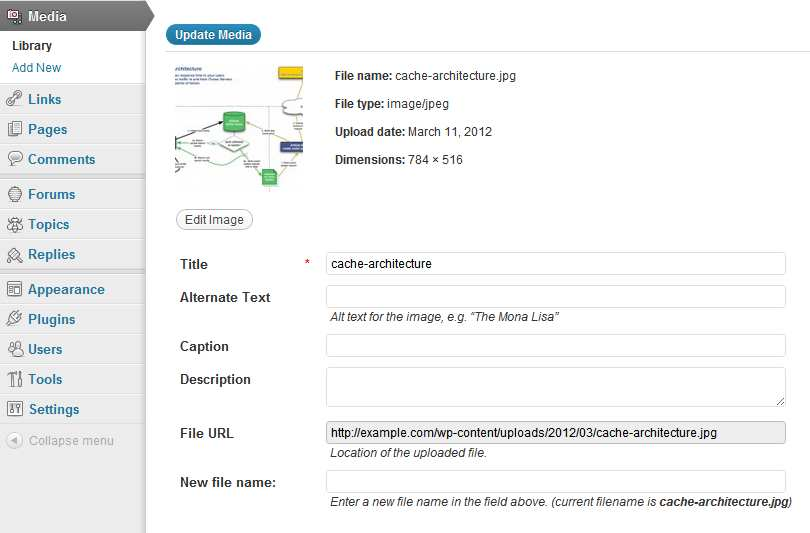 Rename Media Files Plugin WordPress, Download, Install