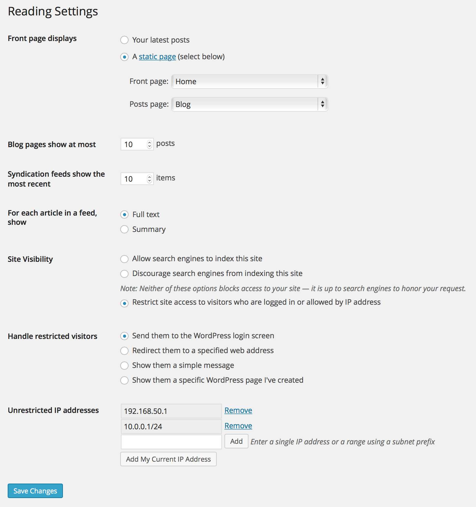 Restricted Site Access Plugin WordPress, Download, Install