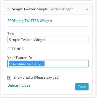 SF Simple Twitter Widget Plugin WordPress, Download, Install