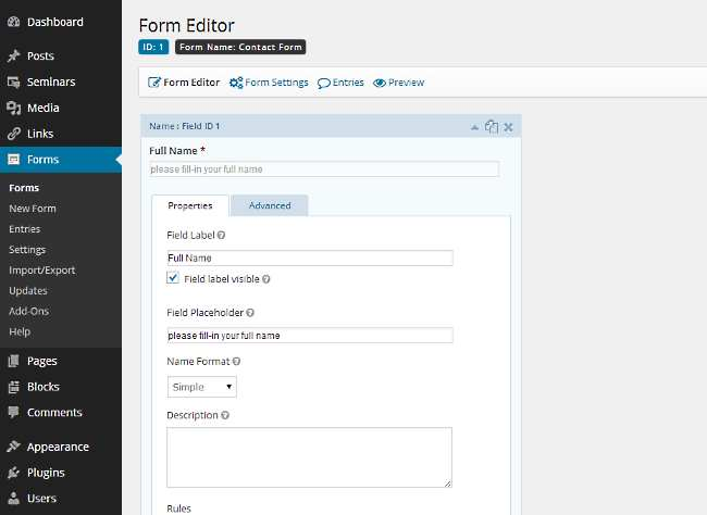 Gravity Forms HTML5 Placeholders Plugin WordPress, Download, Install