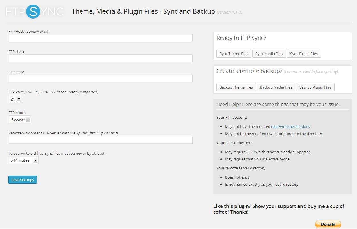 FTP Sync – Theme, Media & Plugin Files Plugin WordPress, Download, Install