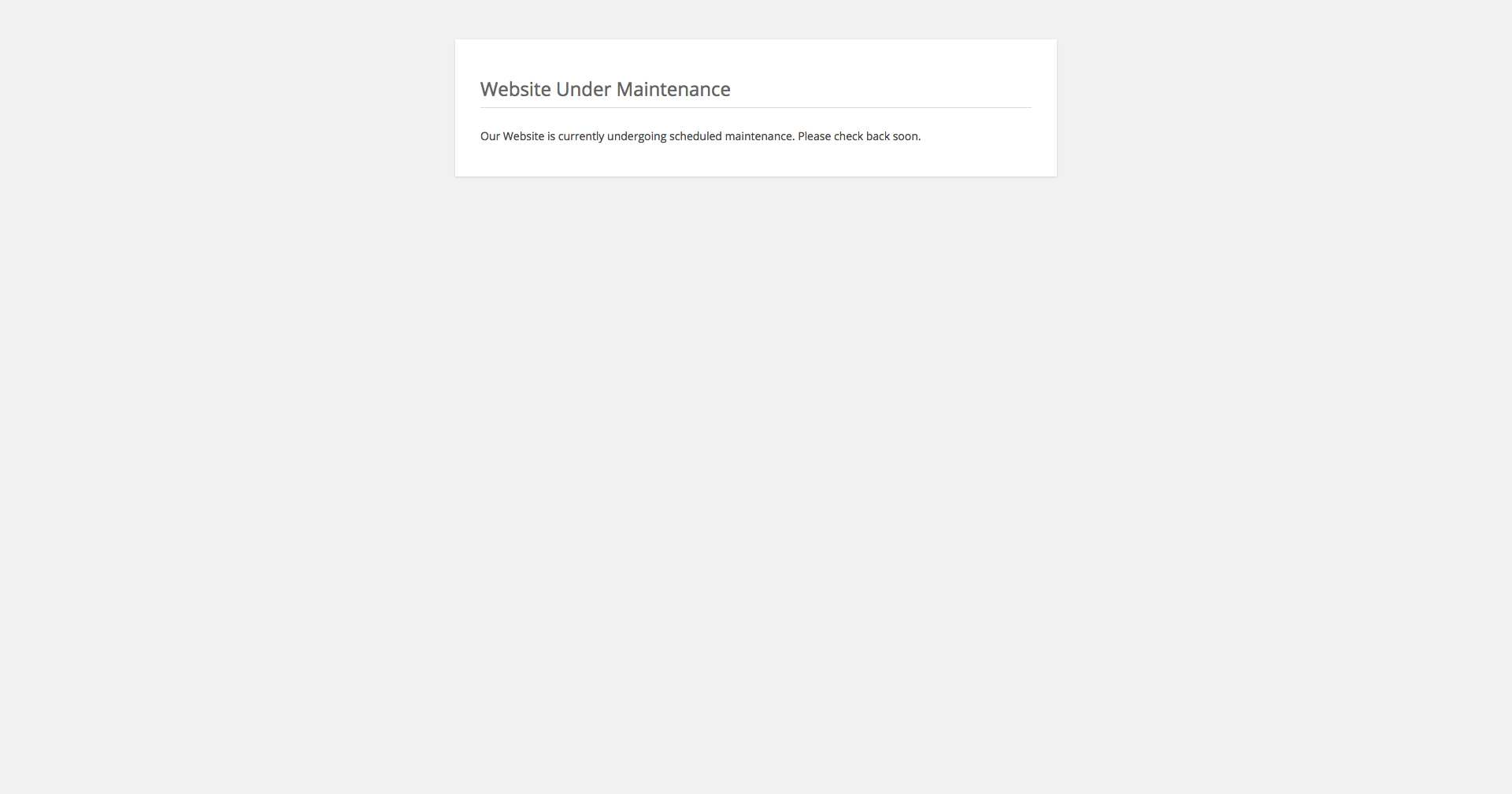 Maintenance Mode Plugin WordPress, Download, Install