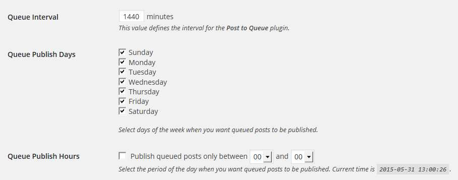 Post to Queue Plugin WordPress, Download, Install