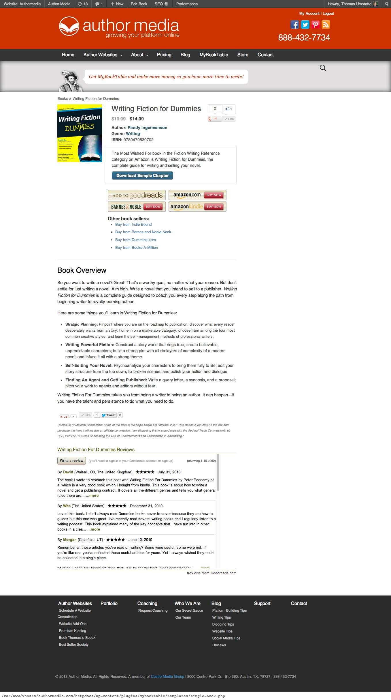MyBookTable Bookstore by Author Media Plugin WordPress