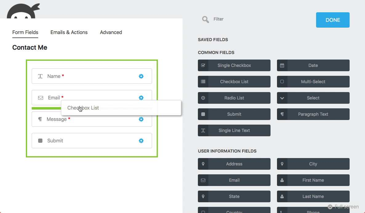 Ninja Forms Plugin WordPress, Download, Install