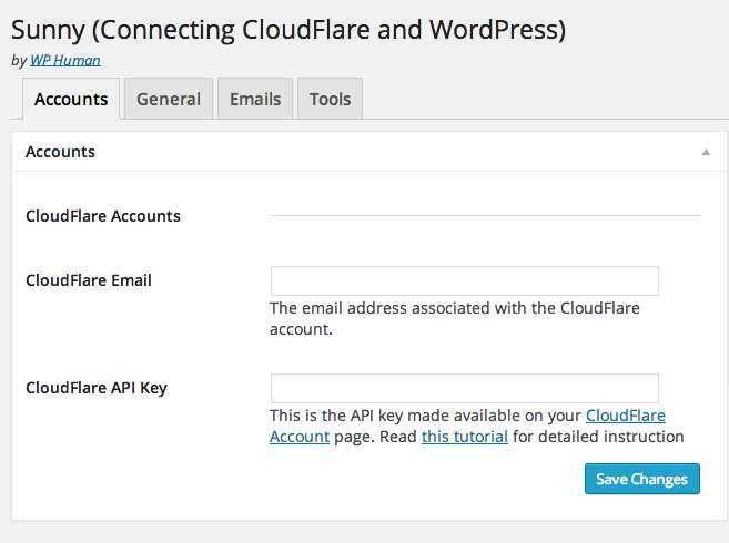 Sunny (Connecting CloudFlare and WordPress) Plugin WordPress, Download, Install