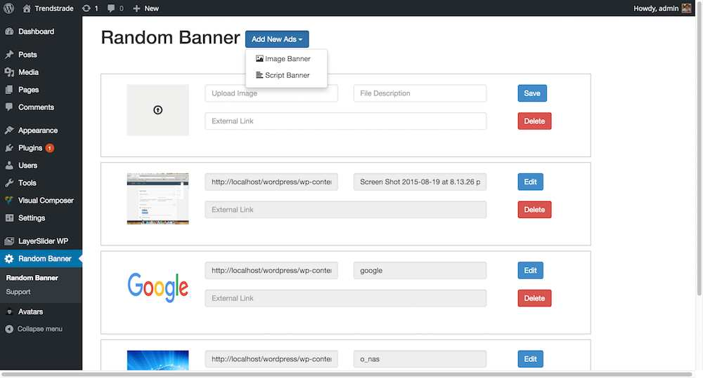 Random Banner Plugin WordPress, Download, Install