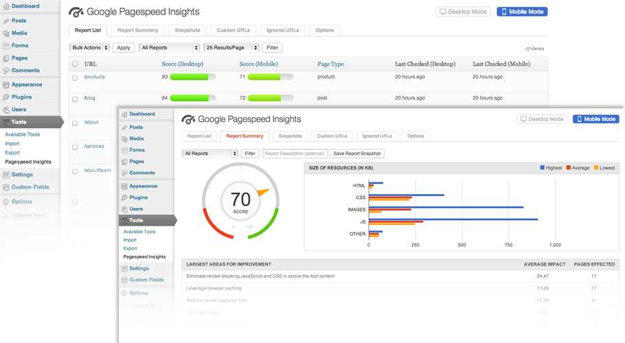 Google Pagespeed Insights for WordPress Plugin WordPress, Download, Install
