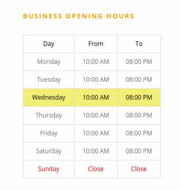 Business Opening Hours Plugin WordPress, Download, Install