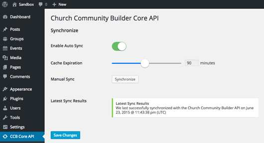 Church Community Builder Core API Plugin WordPress, Download, Install