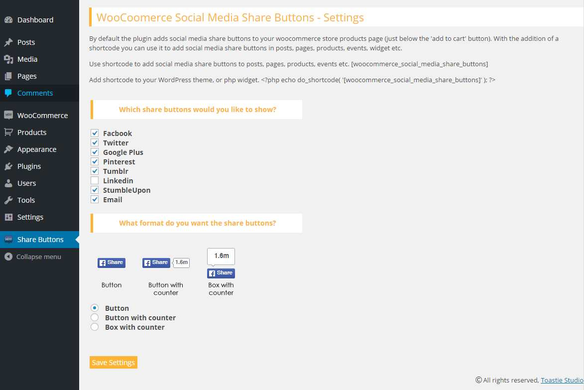 Woocommerce Social Media Share Buttons Plugin WordPress, Download, Install