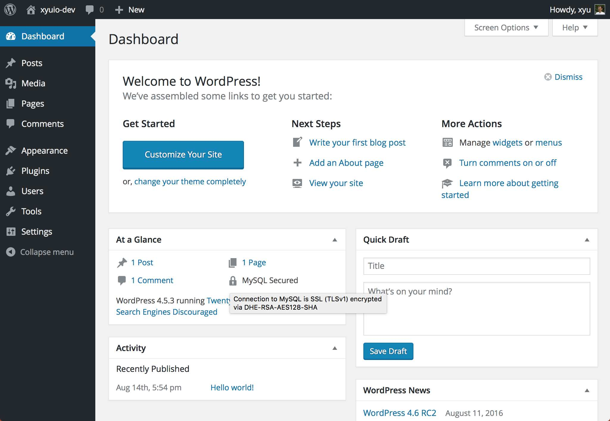 Secure DB Connection Plugin WordPress, Download, Install