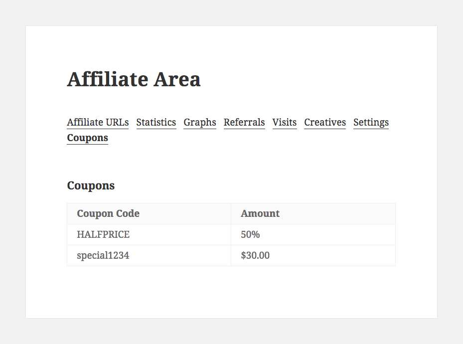 AffiliateWP – Show Affiliate Coupons Plugin WordPress, Download, Install