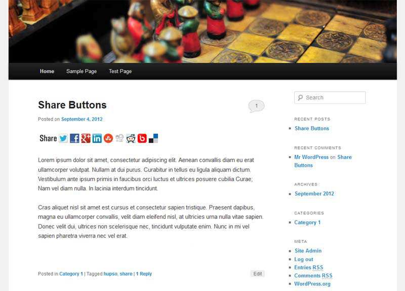Hupso Share Buttons for Twitter, Facebook & Google+ Plugin WordPress, Download, Install
