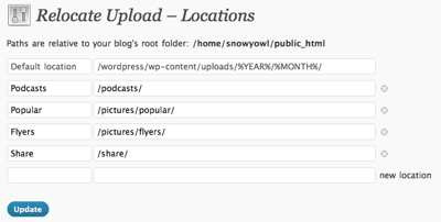 Relocate Upload Plugin WordPress