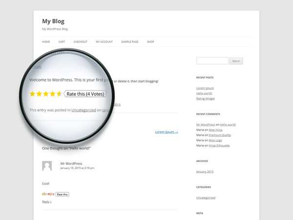 Rating-Widget: Star Review System Plugin WordPress