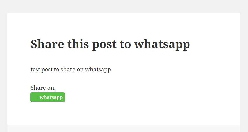 Share Post To Whatsapp Plugin WordPress, Download, Install