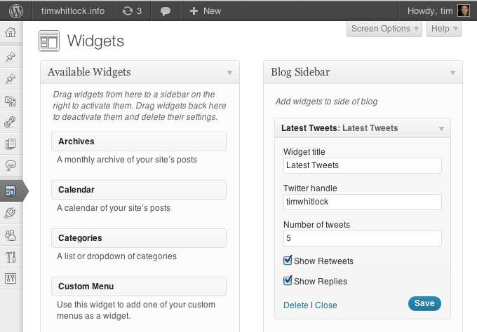 Latest Tweets Widget Plugin WordPress, Download, Install