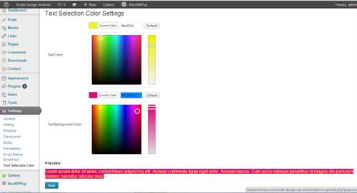 Text Selection Color Plugin WordPress, Download, Install