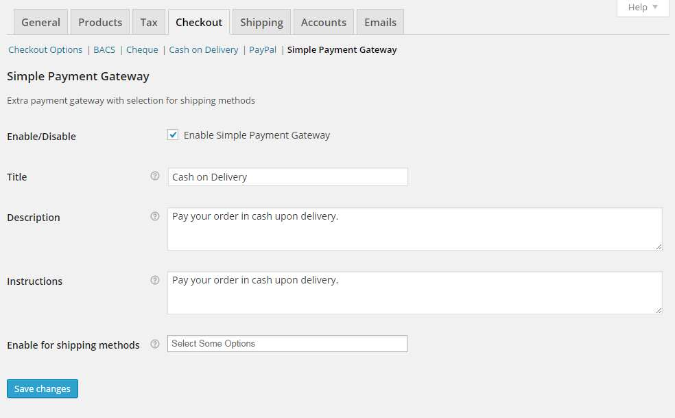 WooCommerce Simple Payment Gateway Plugin WordPress, Download, Install