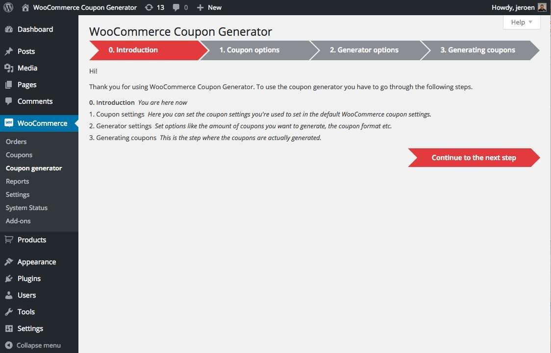 raffle ticket generator woocommerce plugin wordpress coupon generator for woocommerce plugin wordpress install
