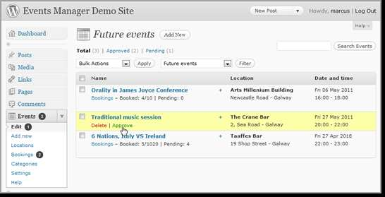 Events Manager Plugin WordPress, Download, Install
