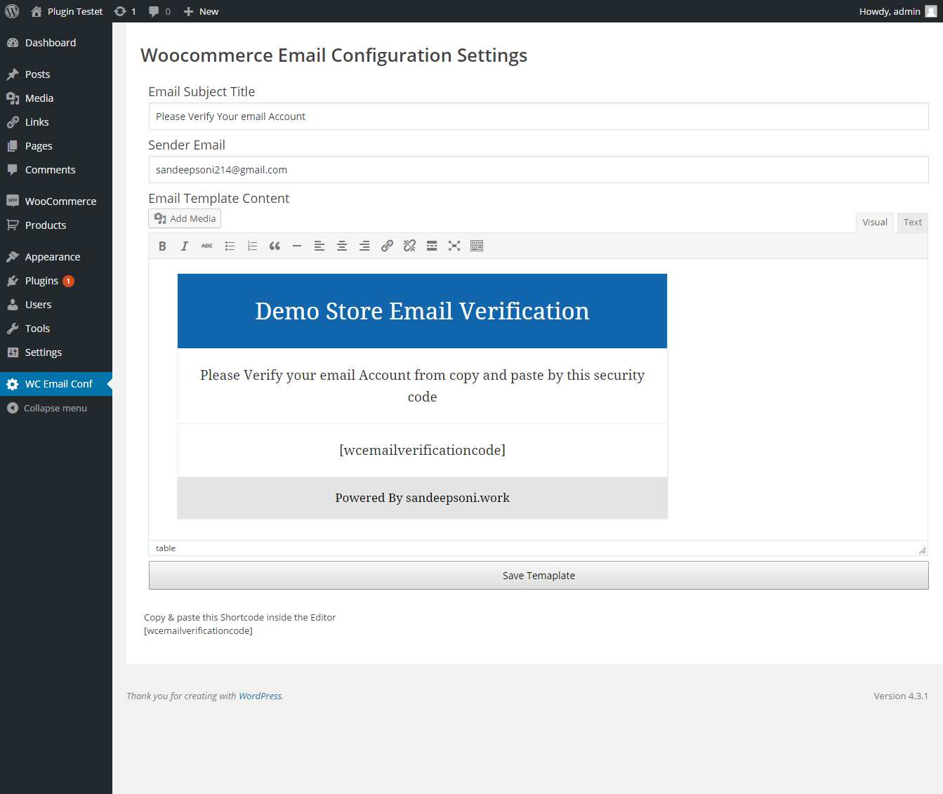 Woocommerce User Email Verification Plugin WordPress, Download, Install