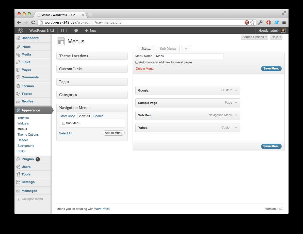 Voce Submenu Items Plugin WordPress, Download, Install