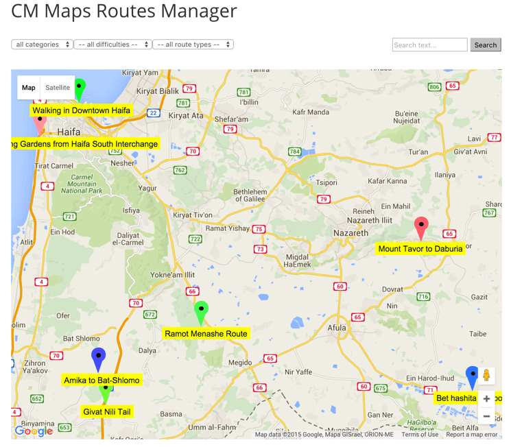 CM Maps Routes Manager Plugin WordPress