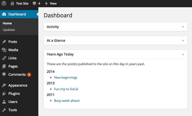 Years Ago Today Plugin WordPress, Download, Install