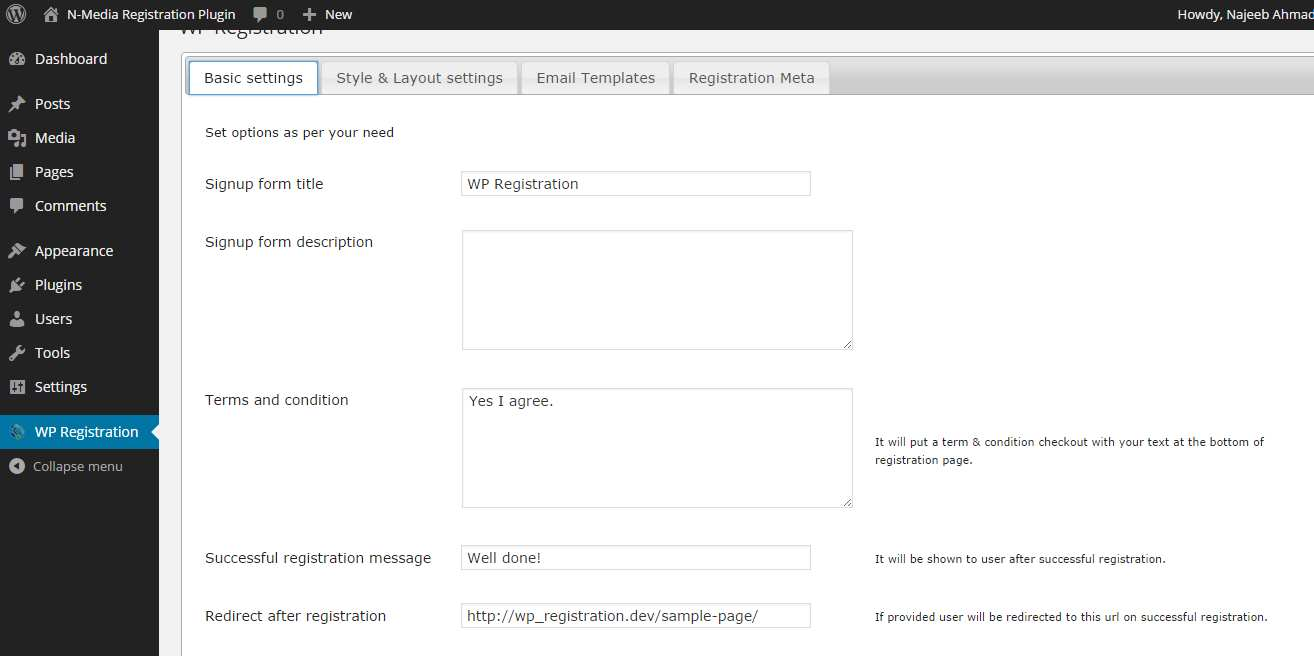 Simple User Registration Plugin WordPress, Download, Install