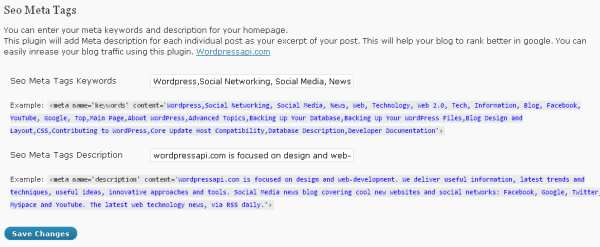 Seo Meta Tags Plugin WordPress, Download, Install
