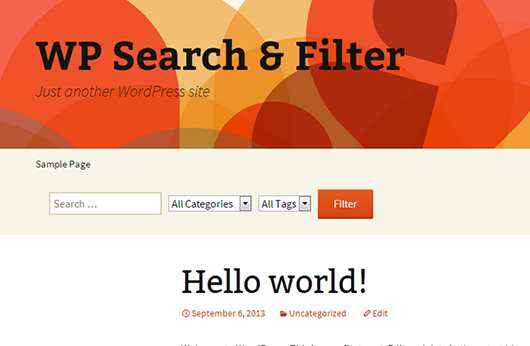Search & Filter Plugin WordPress