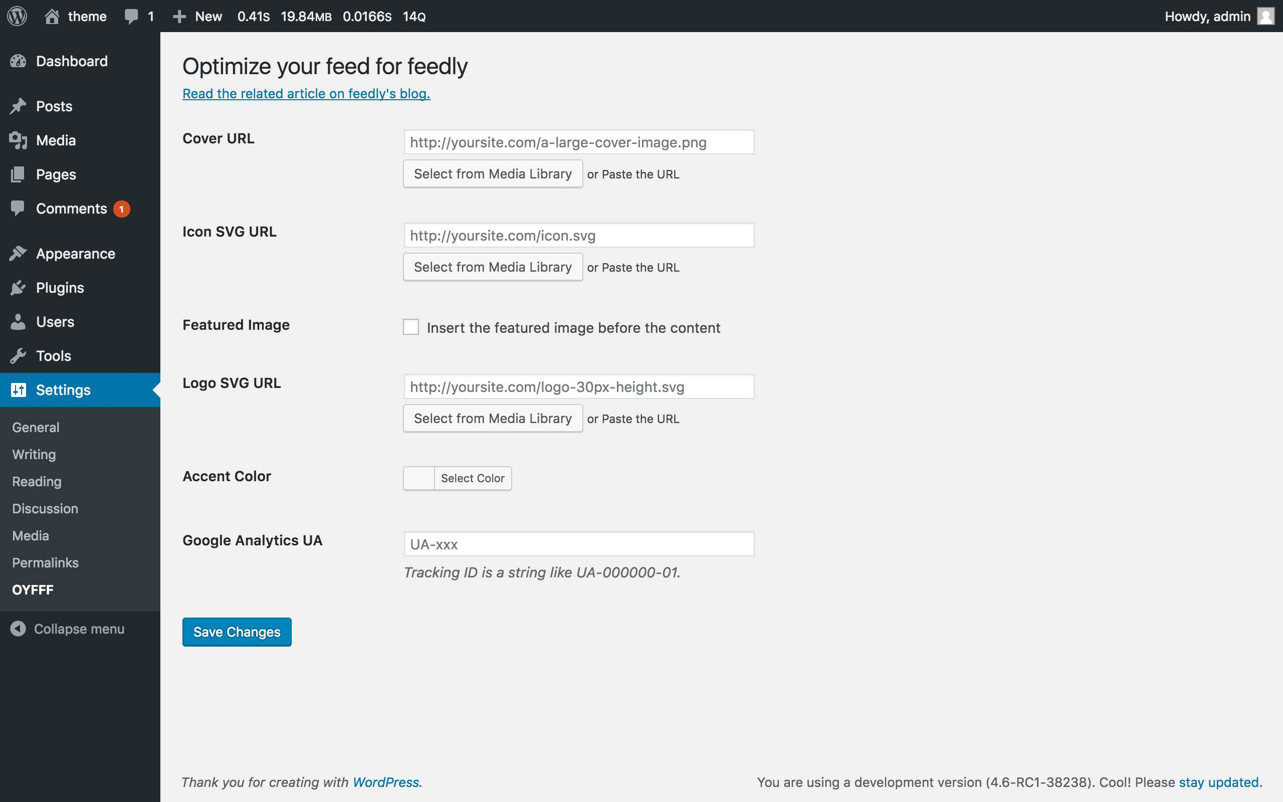 Optimize your feed for feedly Plugin WordPress