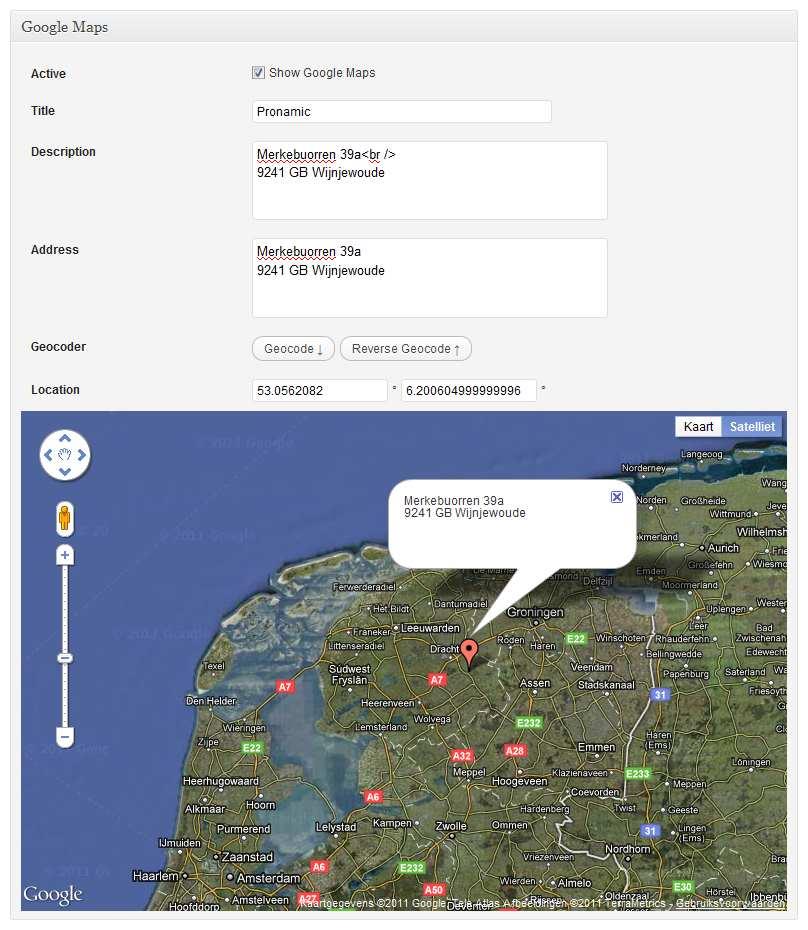 Pronamic Google Maps Plugin WordPress